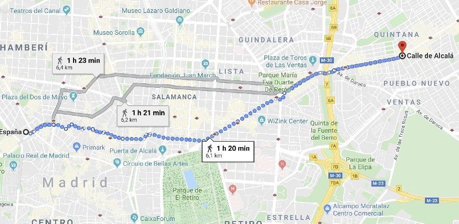distancia entre dos puntos o ciudades